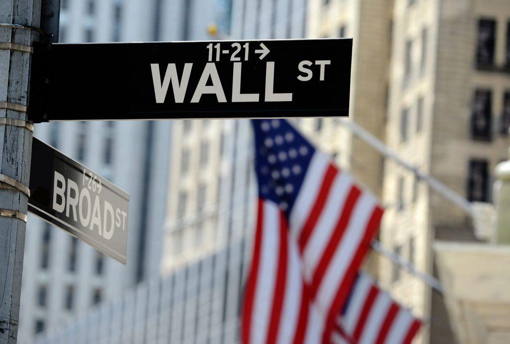 Wall Street road sign, Lower Manhattan, New York City